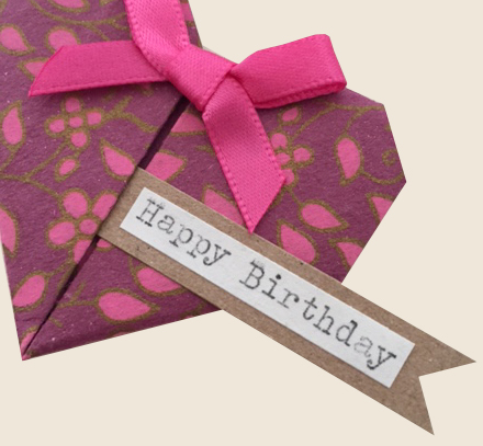 Little origami birthday hearts hello sweetie this cute origami hearts birthday card has been individually handmade especially for you bookmarktalkfo Choice Image